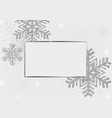 silver xmas background with silver frame vector image vector image