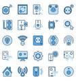 smart socket colored icons set - european vector image