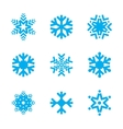 Snowflake icon set isolated on white background vector image vector image