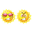 Sun with angry face vector image vector image