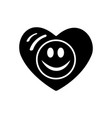 symbol of love valentines day smiley face icon vector image