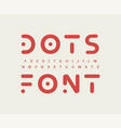 tribal futuristic alphabet letter font modern vector image