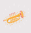 trumpet icon on white vector image vector image
