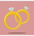 two rings marriage symbol vector image vector image