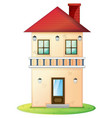 two stories house with red roof vector image vector image