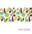 vegetable hand drawn background isolated vector image vector image