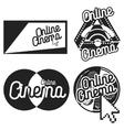 Vintage online cinema emblems vector image vector image