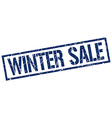 winter sale stamp vector image vector image