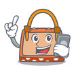 with phone hand bag character cartoon vector image vector image