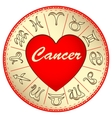 zodiac sign Cancer for lovers on Valentine vector image vector image