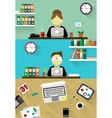 Flat design corporate business team people vector image