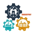 Factoryindustry and business design vector image