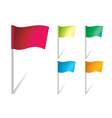 flapping flags vector image