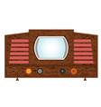 Retro television set vector image