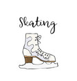 skate icon simple of skate colored vector image