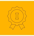 1st place ribbon line icon vector image vector image