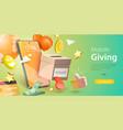 3d conceptual donation vector image