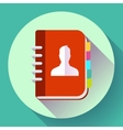 Adress phone book icon notebook icon Flat design vector image vector image