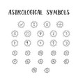 astrology doodle symbols set of astrological vector image