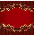 background with golden ornament and red vector image vector image