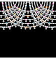 background with jeweled pendants on black vector image