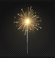 bengal light burning sparkler christmas new vector image