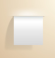 blank white sheet of paper sticking out of the vector image vector image