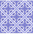 blue and white pattern design vector image vector image