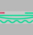 bright cyan tinsel vector image