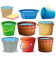 Bucket set vector image vector image