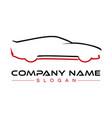 car logotype vector image vector image