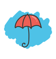 Cartoon doodle umbrella vector image