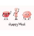 cartoon meat food character beacon steak vector image vector image