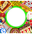 casino online round pattern vector image vector image