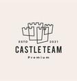 castle outline hipster vintage logo icon vector image
