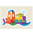 Childrens toy steam locomotive vector image vector image