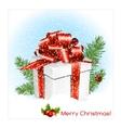 Chrristmas present gift box vector image vector image