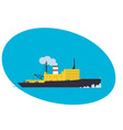 container cargo ship freight transportation vector image vector image