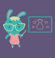 Cute Bunny Kindergarten Teacher vector image vector image