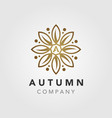 elegant luxury autumn flower mandala logo design vector image