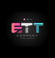 ett e t t three letter logo icon design vector image vector image