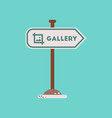 flat icon on background sign gallery vector image vector image