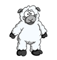 Funny woolly cartoon sheep vector image