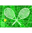 Grass court tennis vector image
