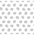 grey seamless pattern of haloween pumpkins black vector image vector image