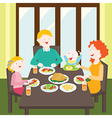 Happy family dinner vector image vector image