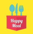 Happy Meal vector image vector image
