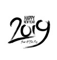 happy new year 2019 with fireworks background vector image vector image