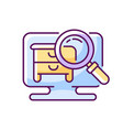 hidden object game rgb color icon vector image