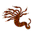 hydra pattern silhouette ancient mythology fantasy vector image vector image